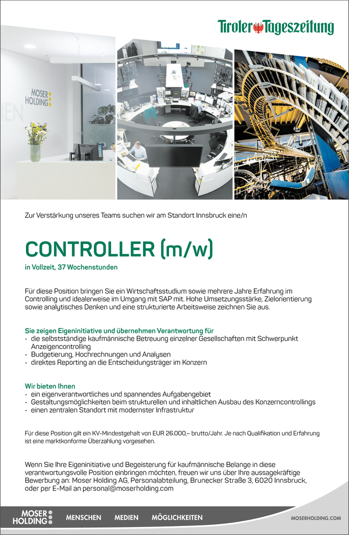 CONTROLLER (m/w)