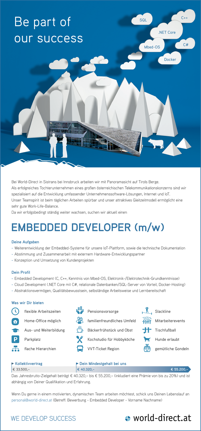 EMBEDDED DEVELOPER (m/w)