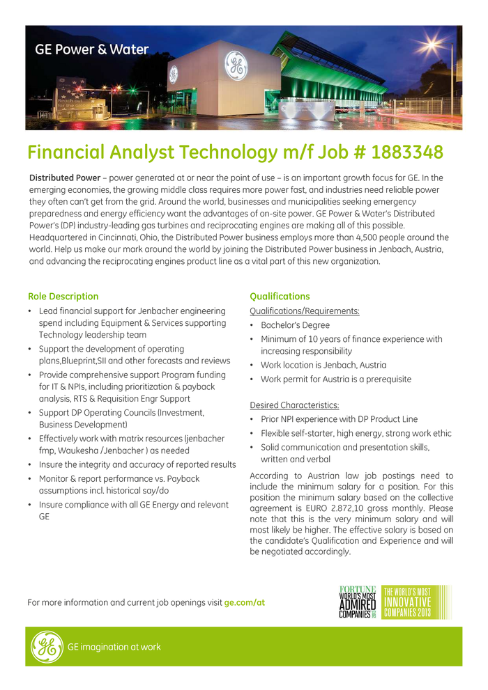 Financial Analyst Technology m/f