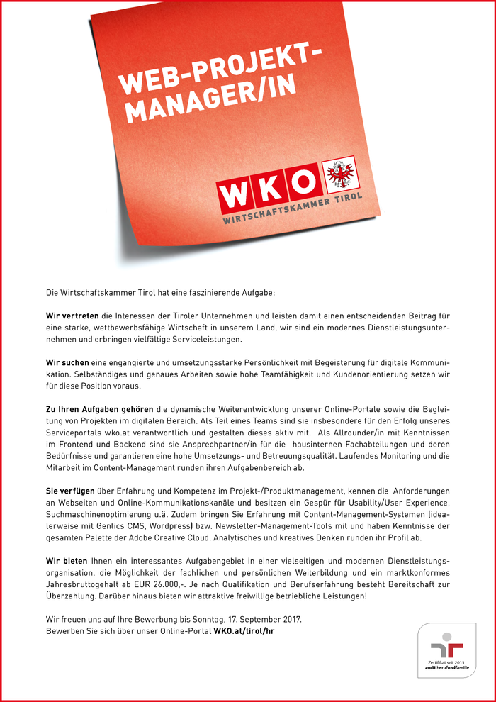 Web-Projektmanager/in