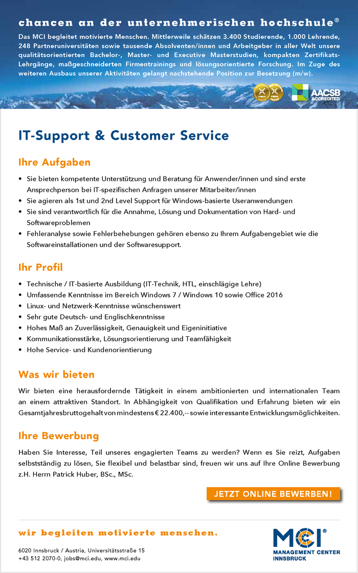 IT-Support & Customer Service