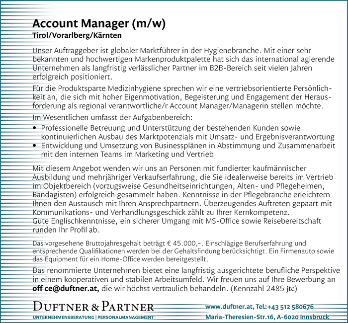 Account Manager (m/w)
