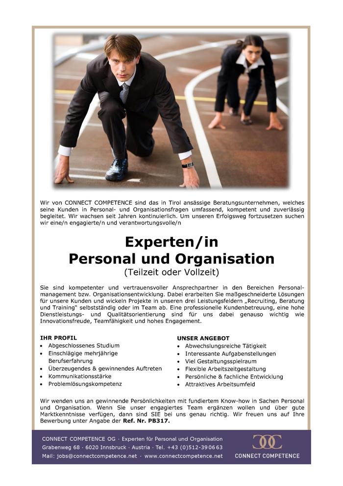 Experten/In Personal Und Organisation (Teilzeit Oder Vollzeit) In