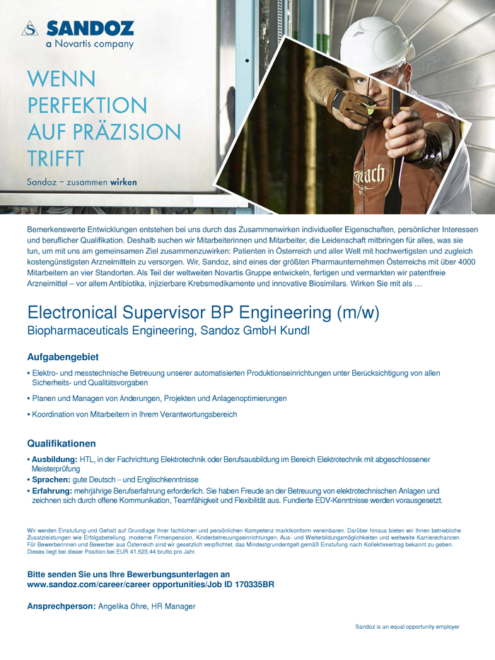 Electronical Supervisor BP Engineering (m/w)