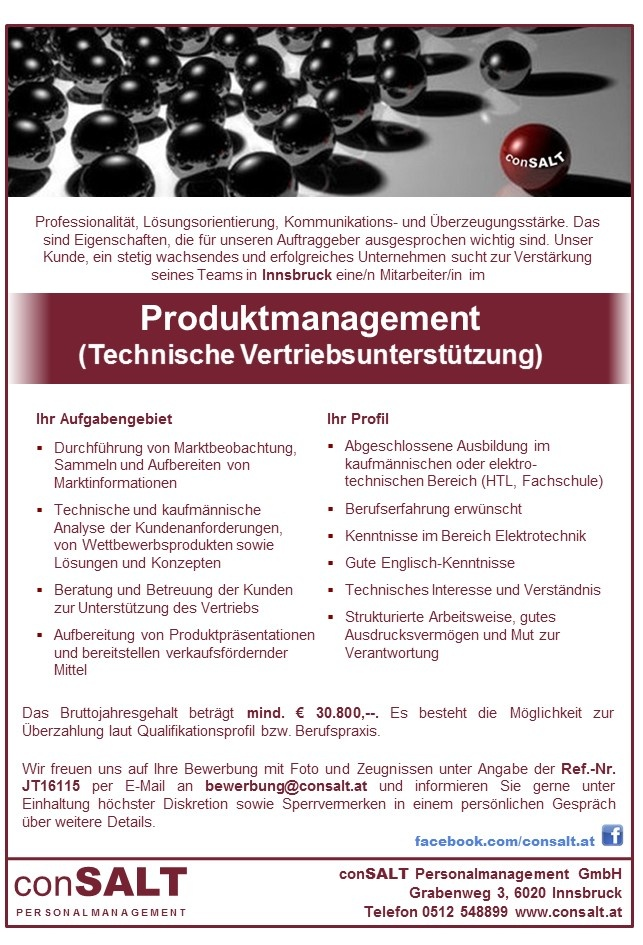 Produktmanagement (m/w)