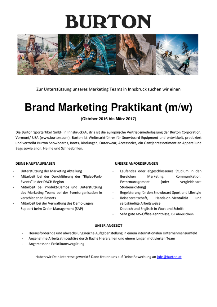 Brand Marketing Praktikant (m/w)