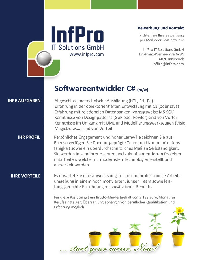 Softwareentwickler C# (m/w)