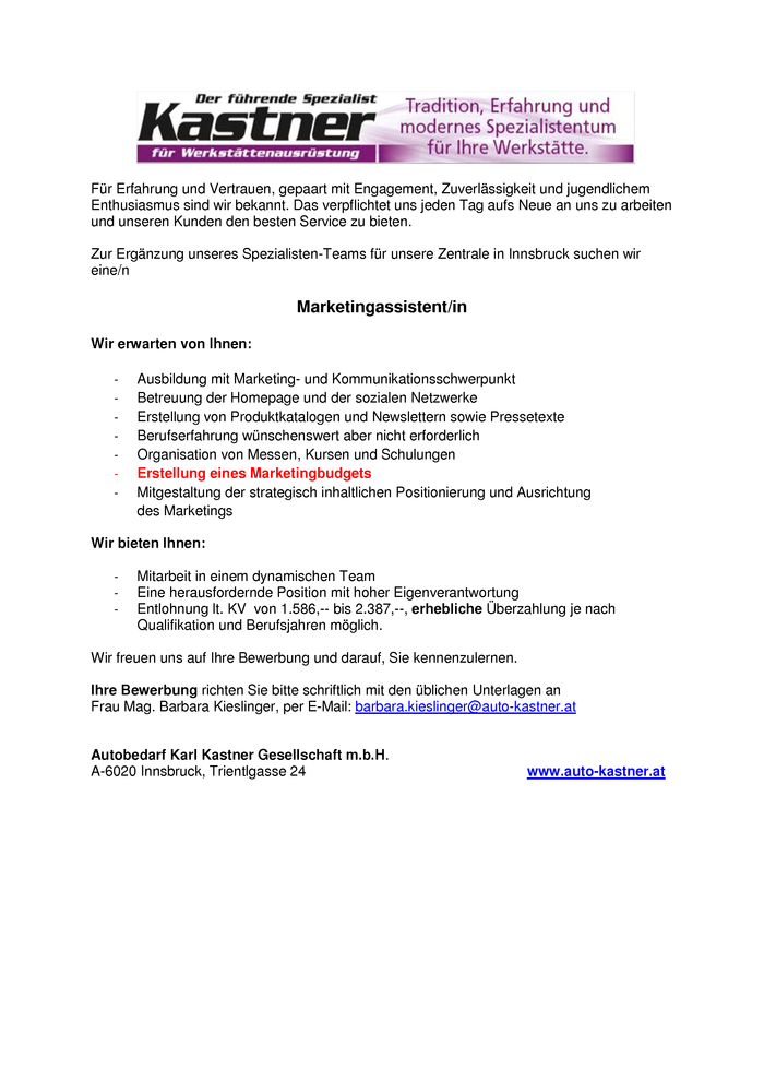 Marketingassistent/in