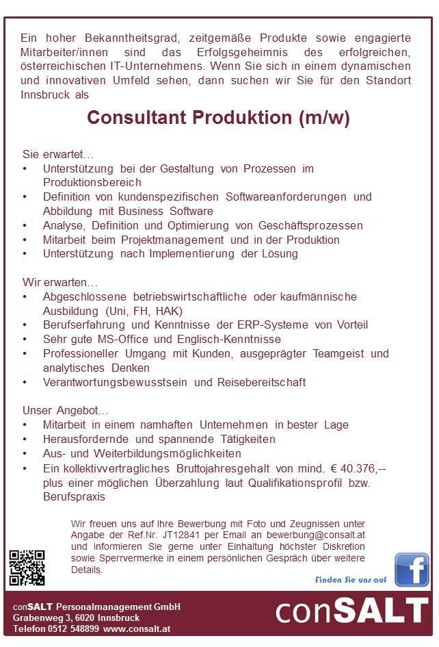 Consultant Produktion (m/w)