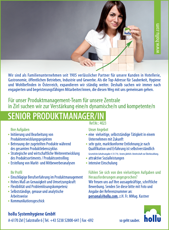 Senior Produktmanager/in