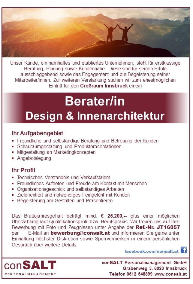 Berater in design innenarchitektur in gro raum innsbruck for Innenarchitektur studium innsbruck