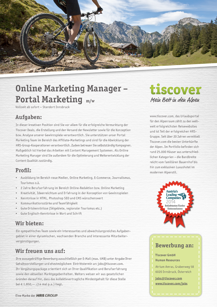 Online Marketing Manager – Portal Marketing (m/w)