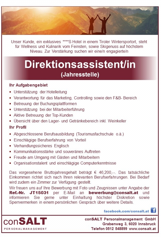 Direktionsassistent/in