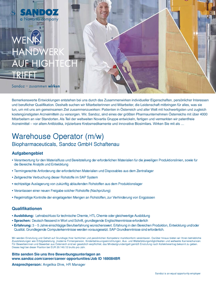 Warehouse Operator (m/w)