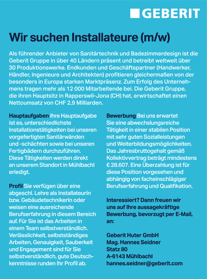 Installateure (m/w)