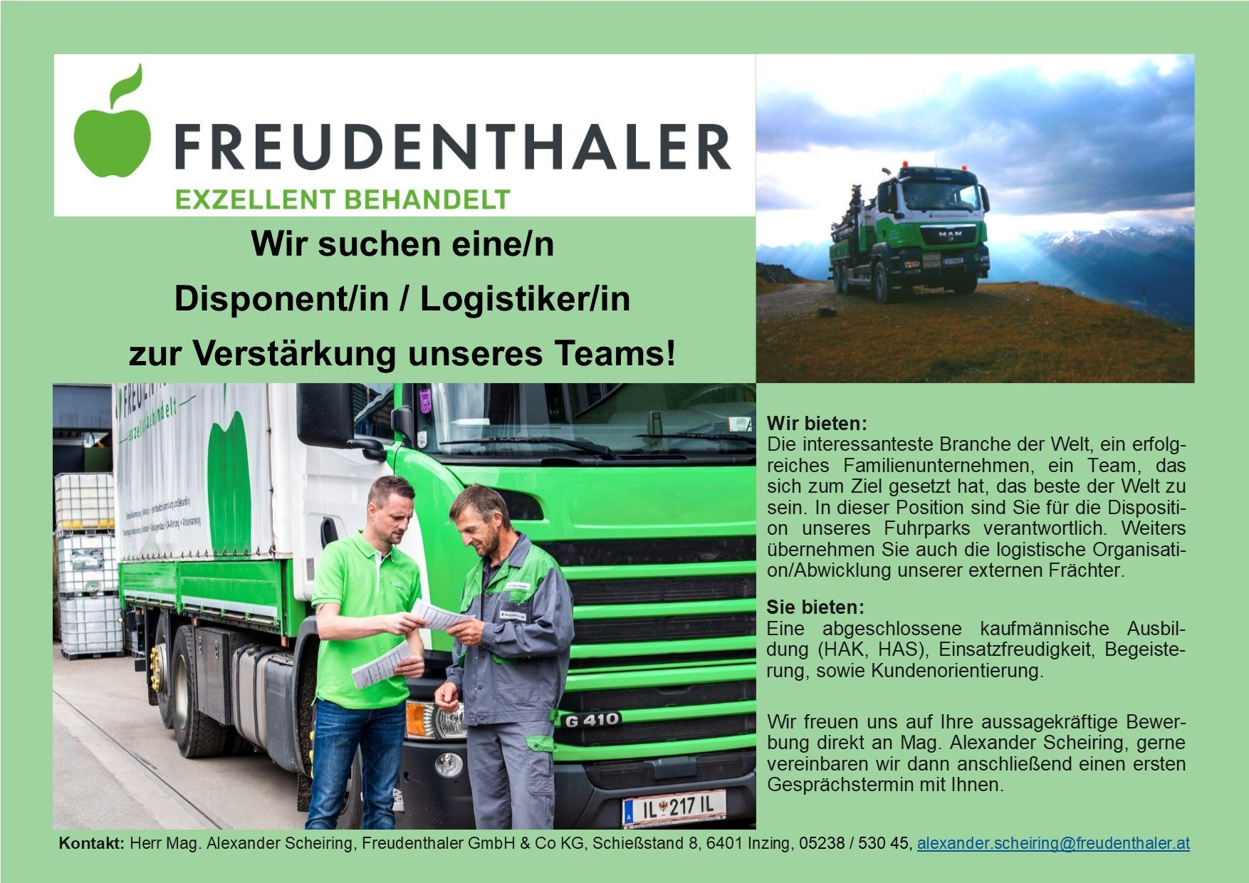 Disponent/in / Logistiker/in