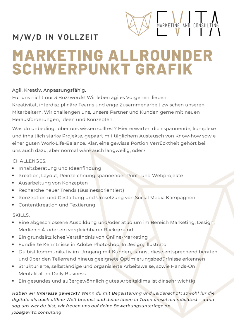 Marketing Allrounder - Schwerpunkt Grafik