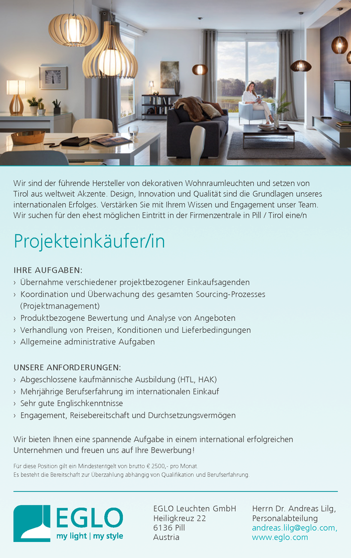 Projekteinkäufer/in