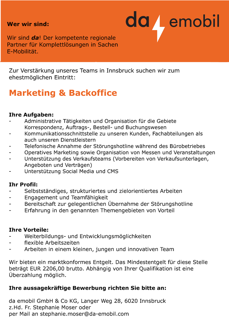 Marketing & Backoffice