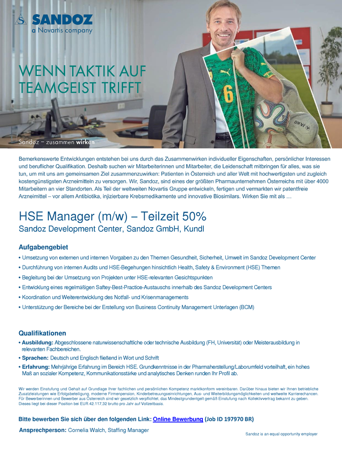HSE Manager (m/w)