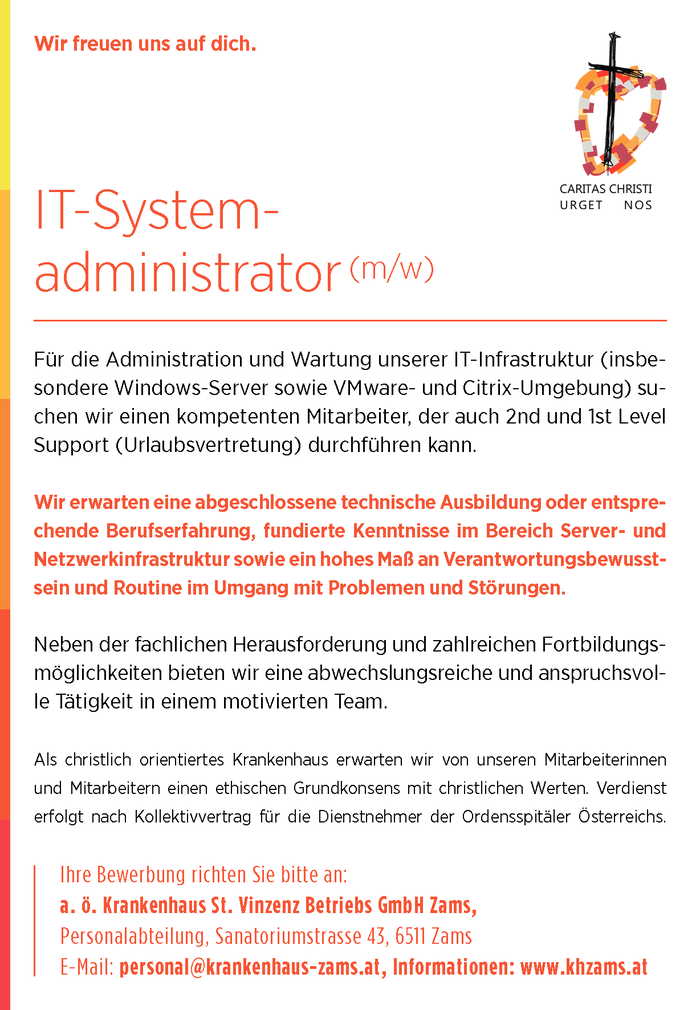 IT-Systemadministrator (m/w)