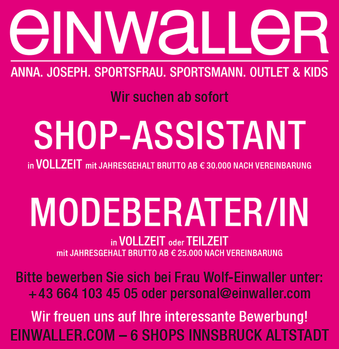SHOP-ASSISTANT und MODEBERATER/IN