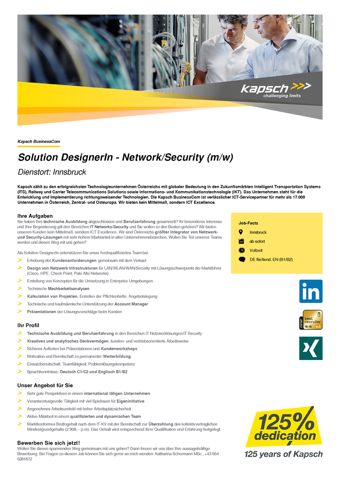 Solution DesignerIn - Network/Security (m/w)