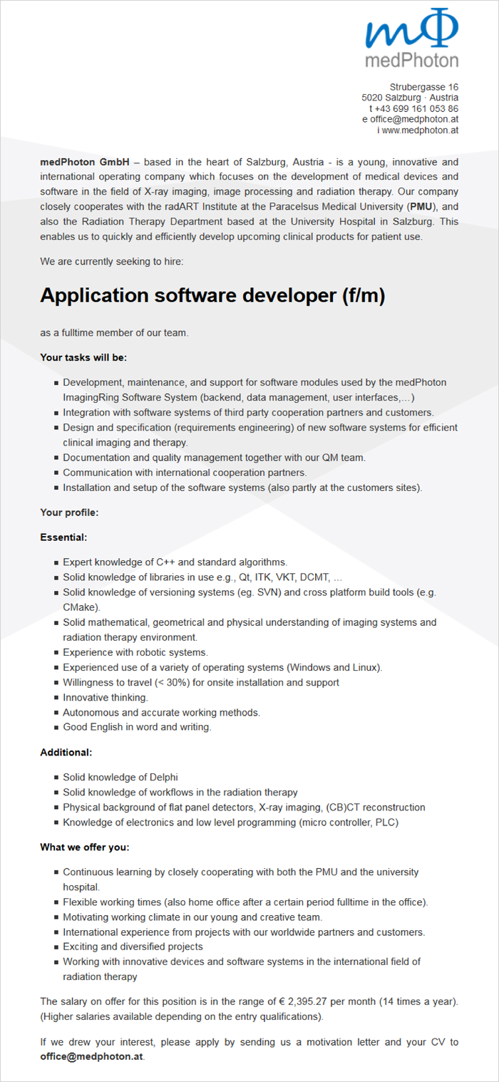 Application software developer (f/m)