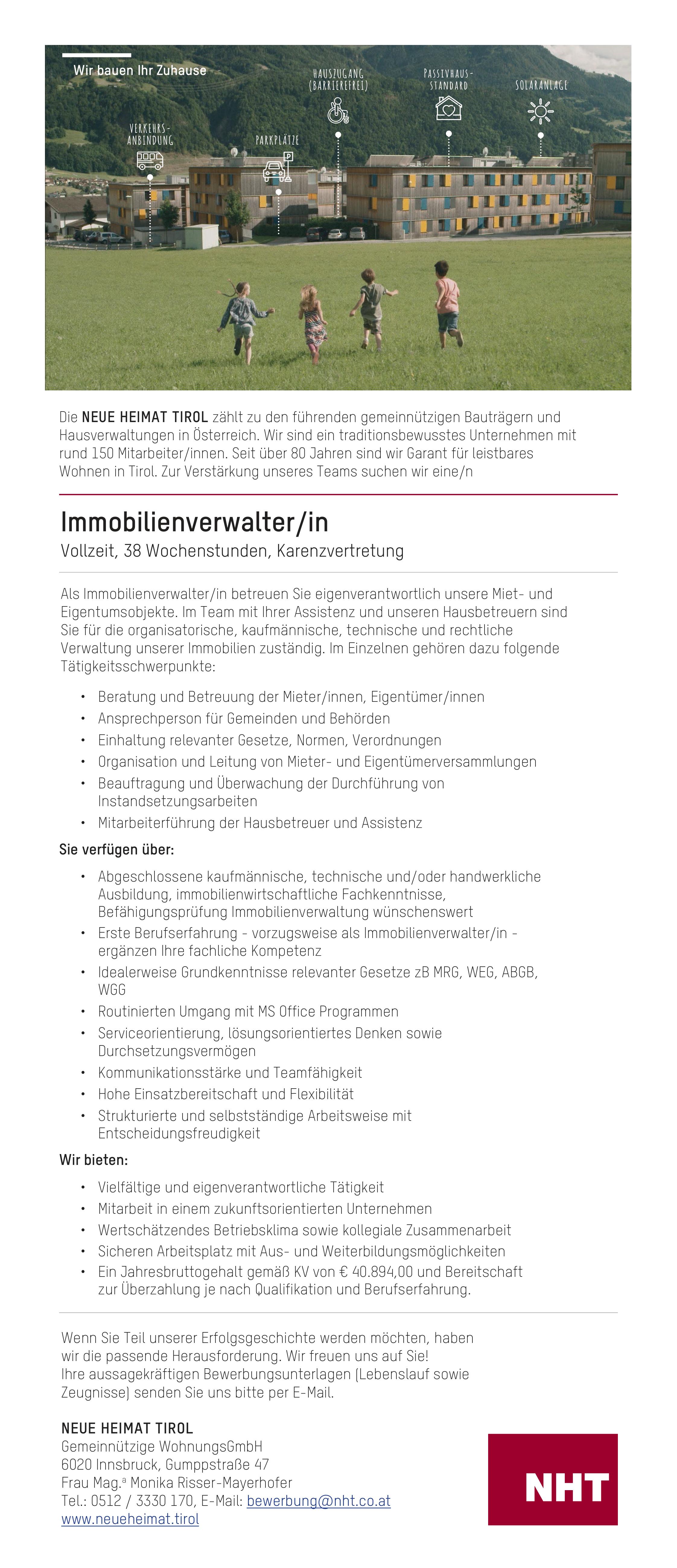 Immobilienverwalter In Im Bezirk Innsbruck Stadt