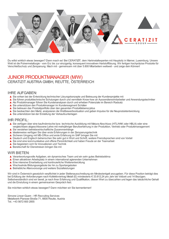 JUNIOR PRODUKTMANAGER (M/W)