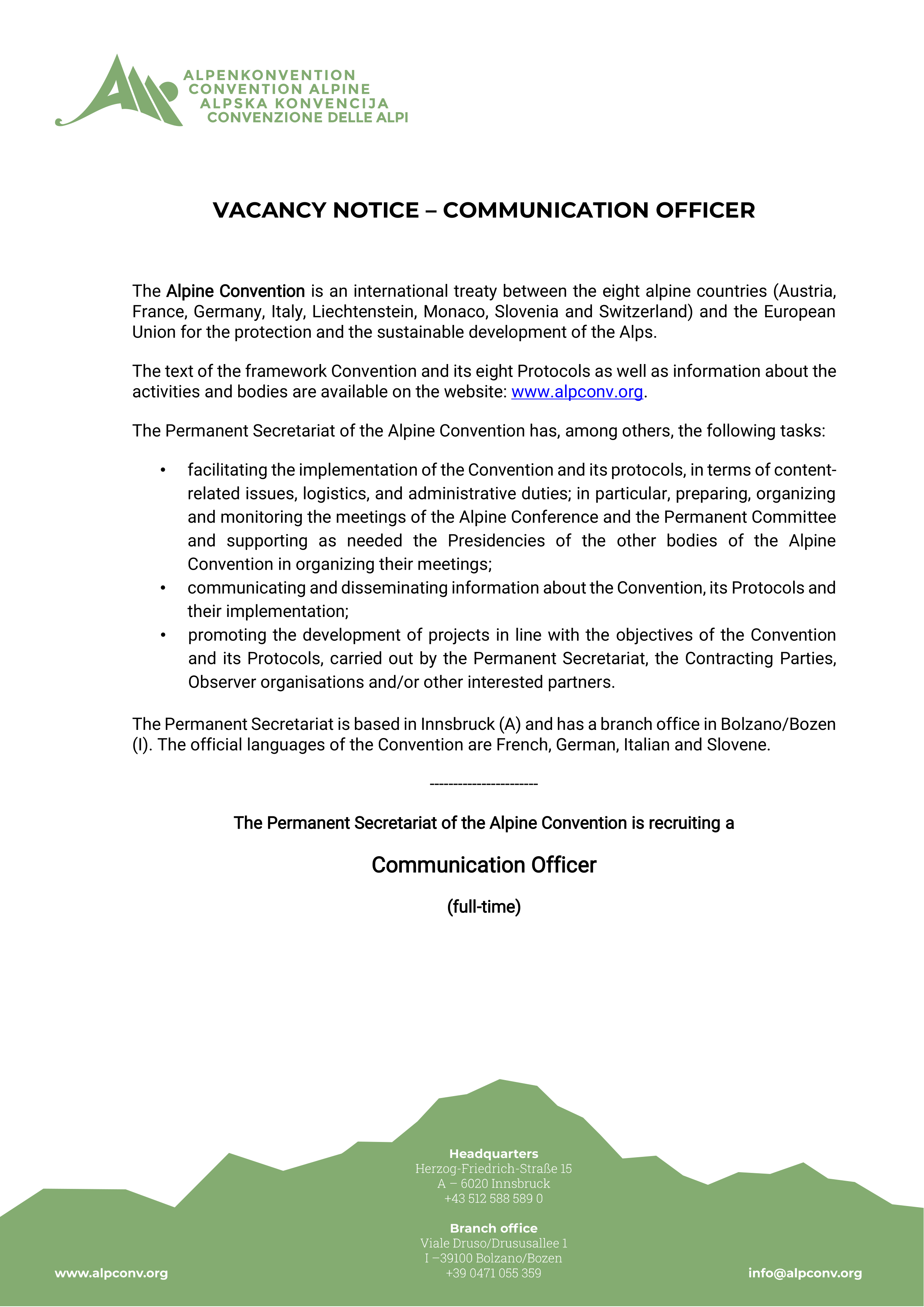 COMMUNICATION OFFICER
