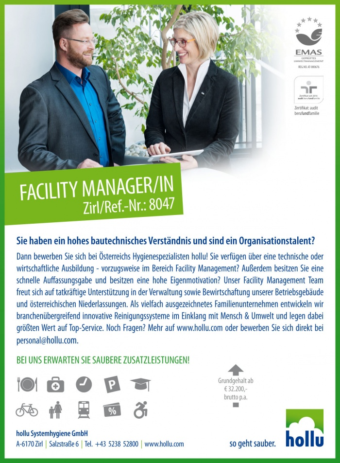Facility Manager/in
