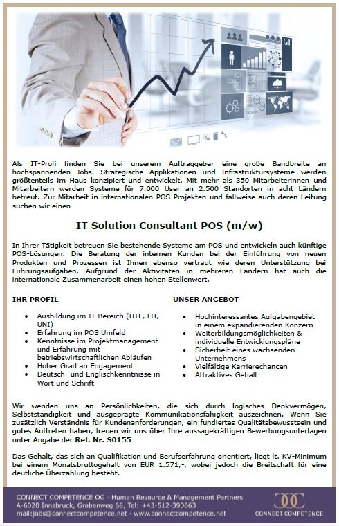 IT Solution Consultant POS (m/w)