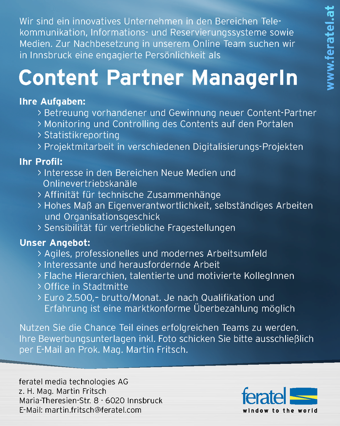 Content Partner ManagerIn