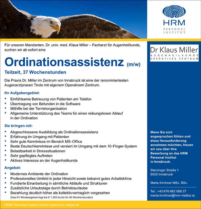 Ordinationsassistenz (m/w)