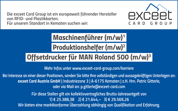 exceet Card Group sucht...