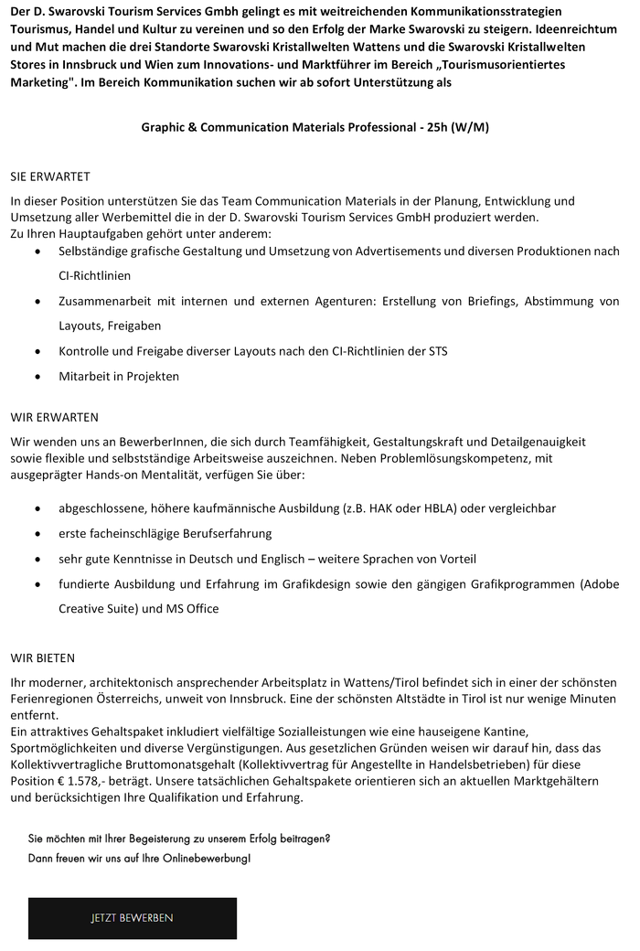 Graphic & Communication Materials Professional - 25h (W/M)