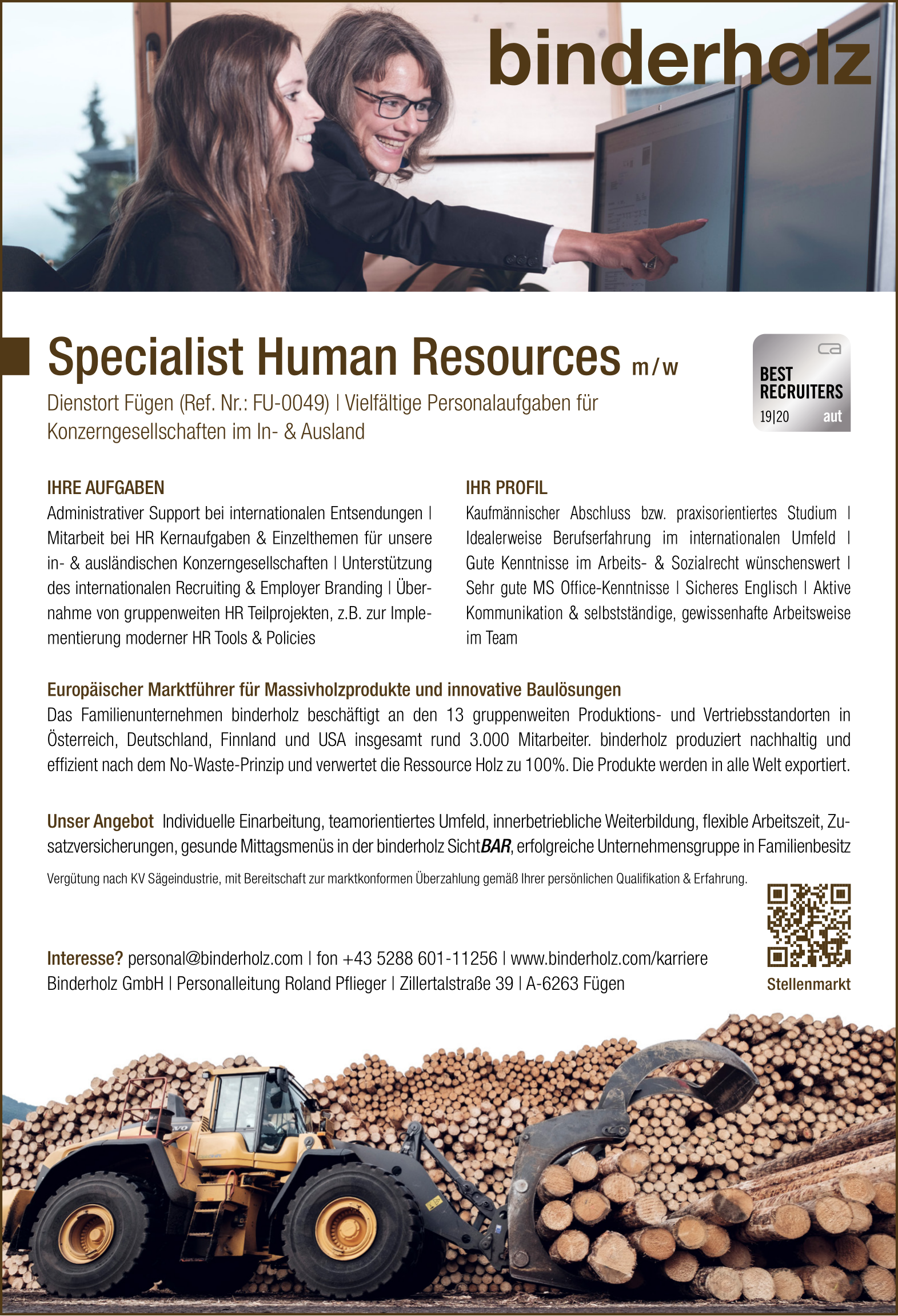 Specialist Human Resources m/w