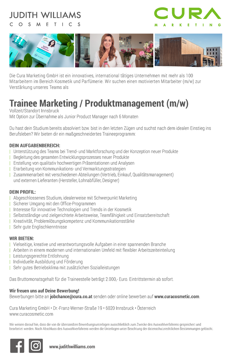 Trainee Marketing / Produktmanagement (m/w)