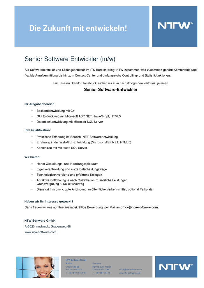 Senior Software Entwickler