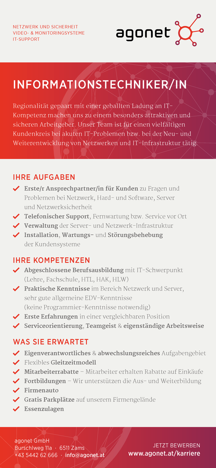 INFORMATIONSTECHNIKER/IN