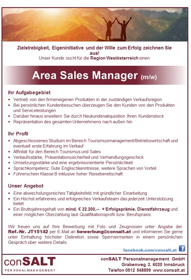 Area Sales Manager (m/w)