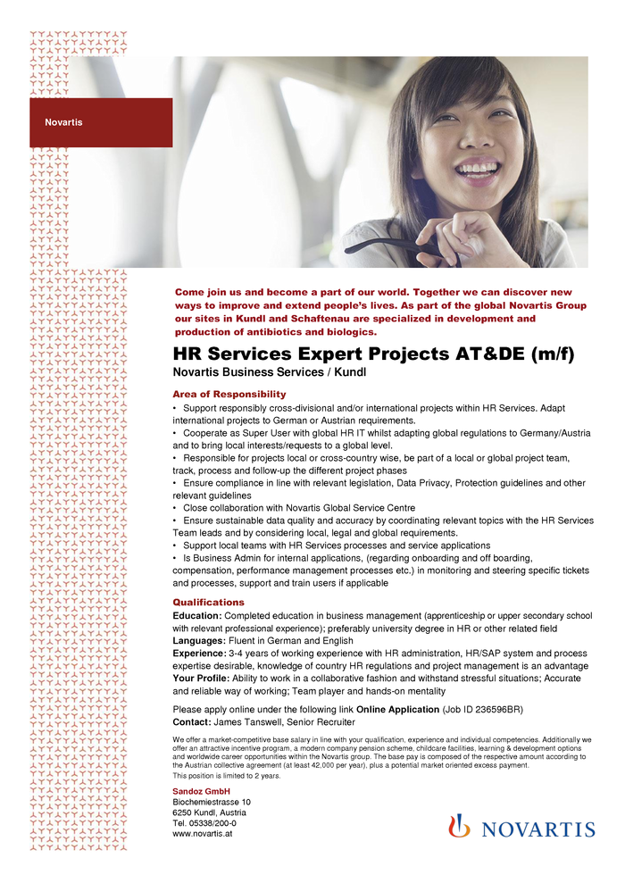 HR Services Expert Projects AT&DE (m/f)