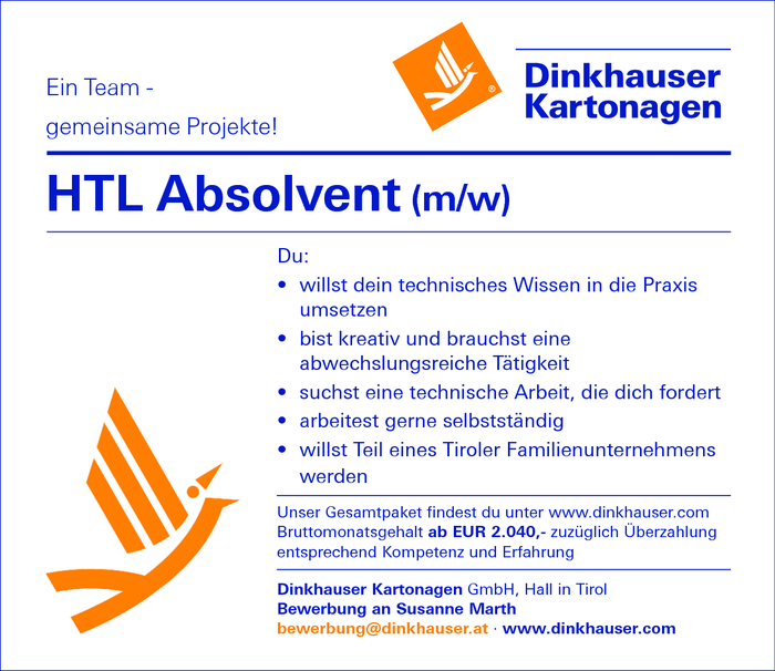 HTL Absolvent m/w