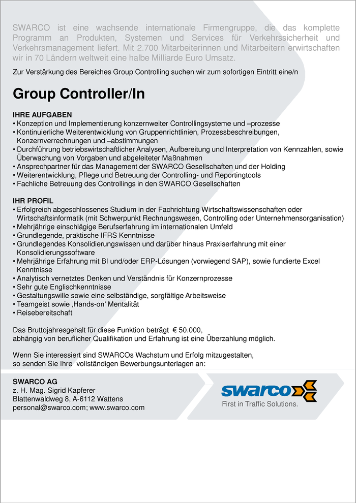 Group Controller/In