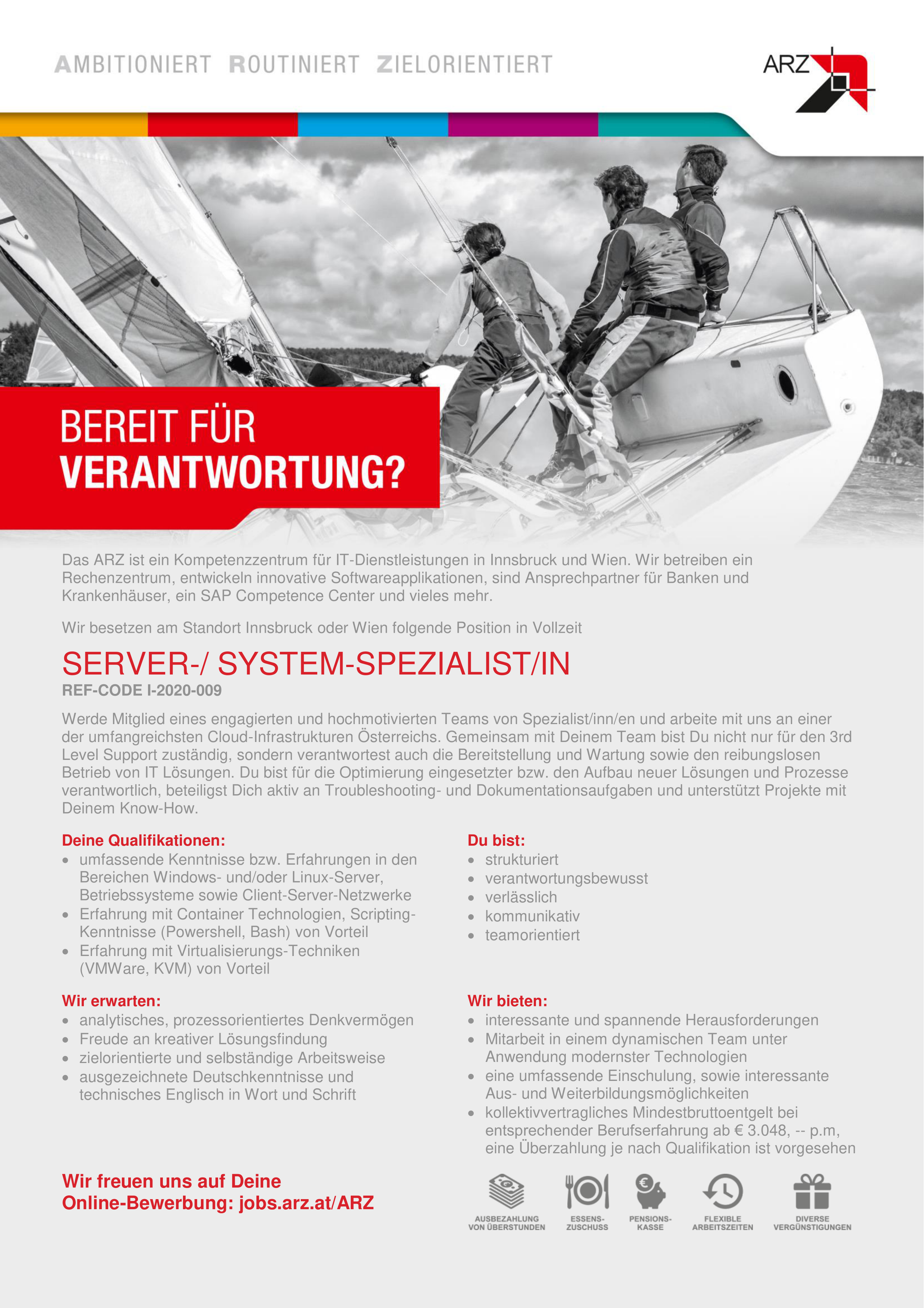 Server-/ System Spezialist/in REF-CODE I-2020-009