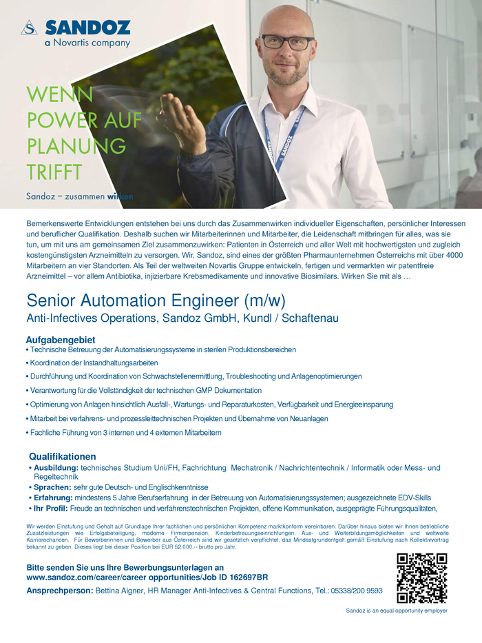 Senior Automation Engineer (m/w)