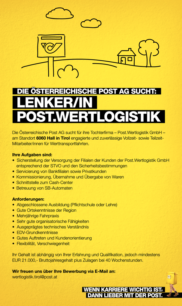 Lenker/in Post.Wertlogistik