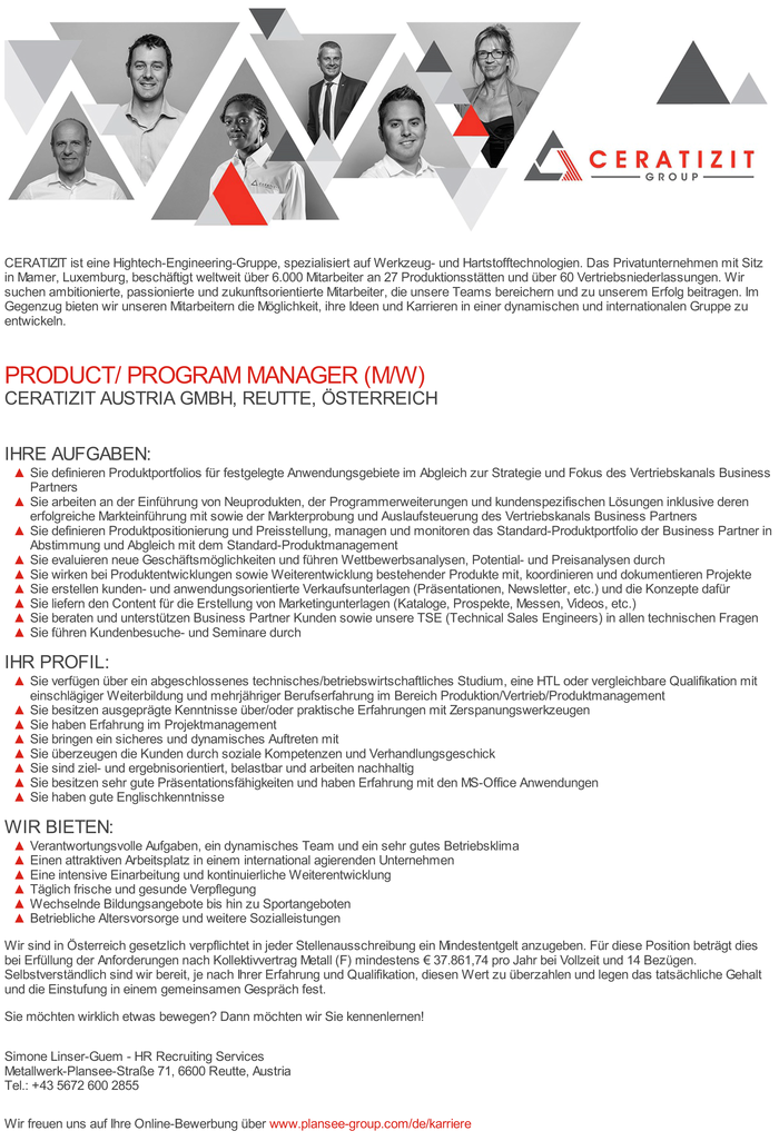 PRODUCT/ PROGRAM MANAGER (M/W)