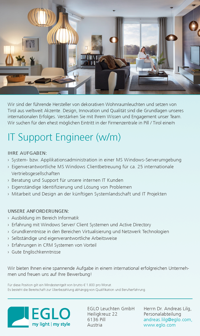 IT Support Engineer (w/m)